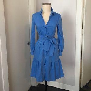 Zara XS blue button down dress